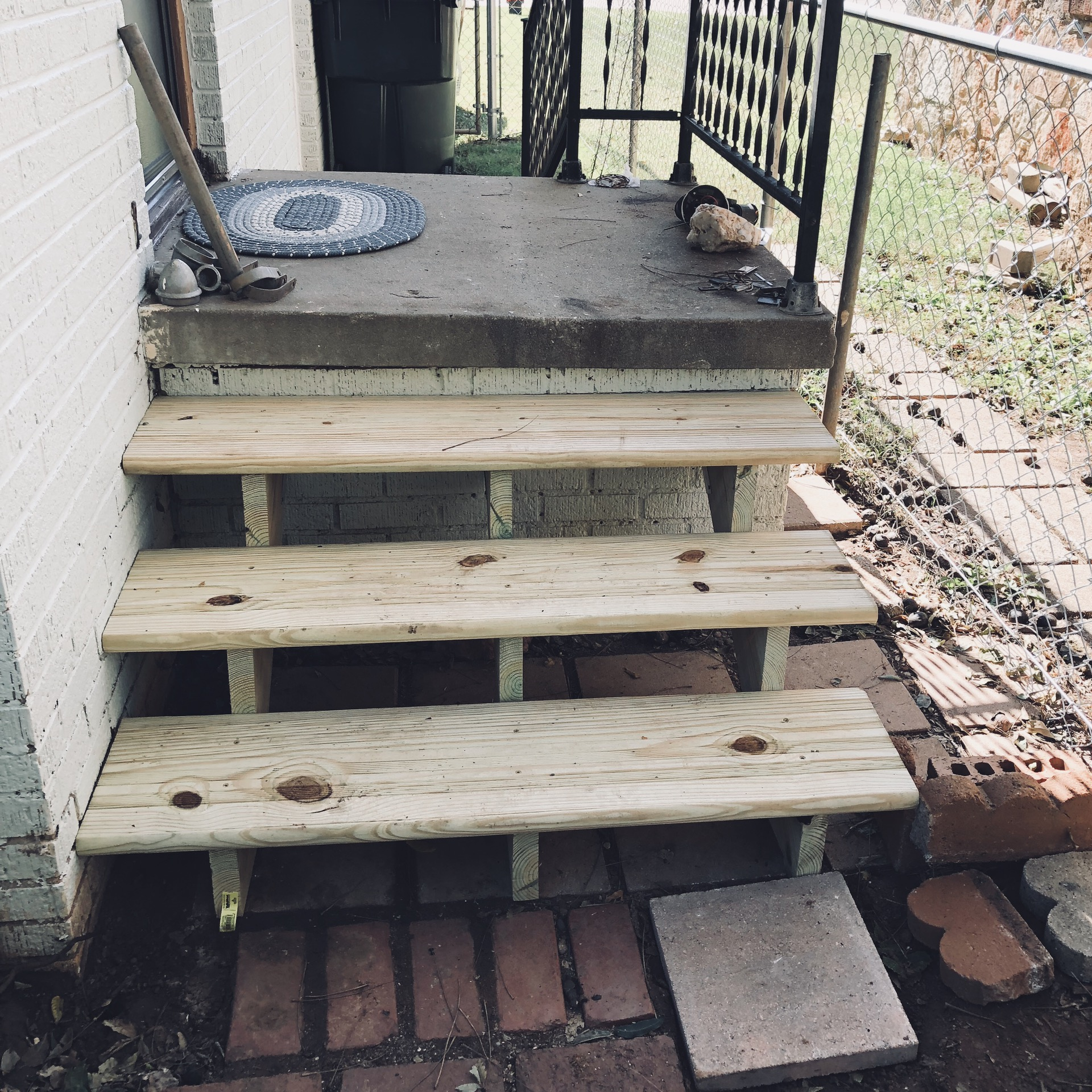 I Bought Everything I Needed For This From Home Depot. The Stair Stringers  Were Pre Made So I Just Bought Those And The Stair Treads.